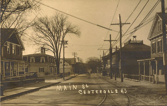 Smith St. (Powdermill Turnpike) in the center of Centerdale c. 1910