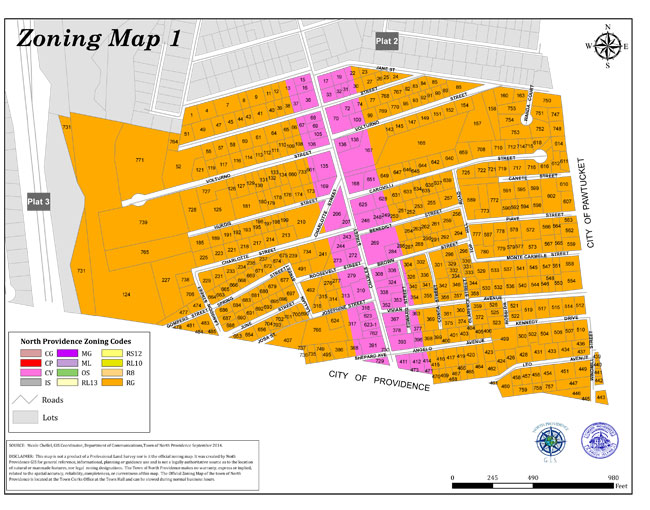 Town of North Providence Zoning Maps
