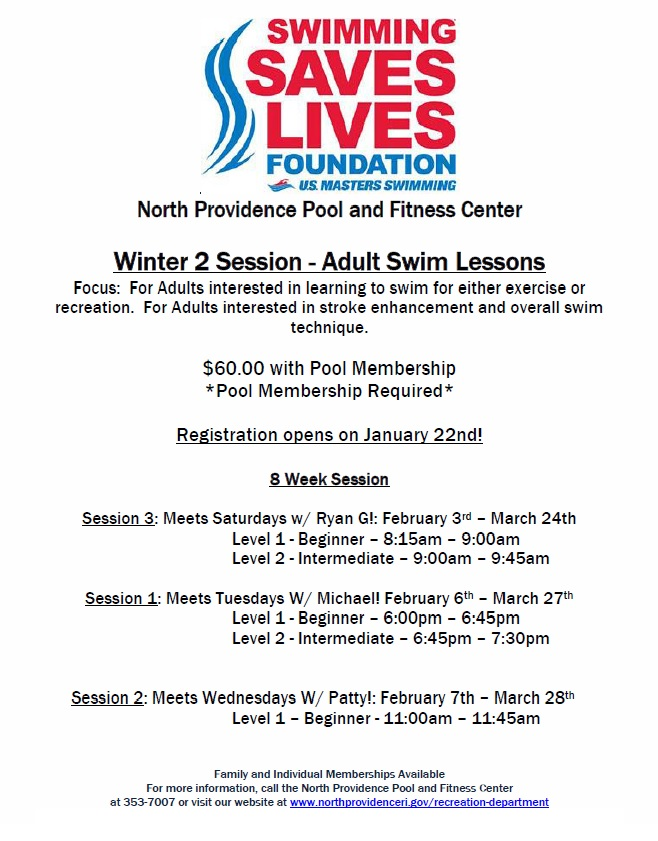Pool & Fitness Center Programs & Info