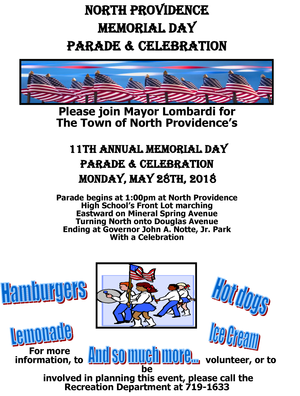 Memorial Day Parade Celebration Town of North Providence Rhode