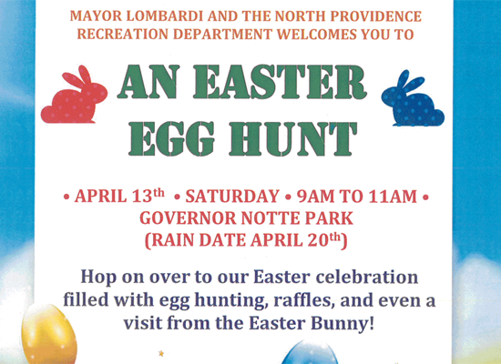Easter Egg Hunt Saturday, April 13th