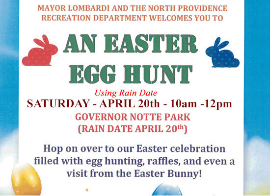 Easter Egg Hunt Saturday, April 20th