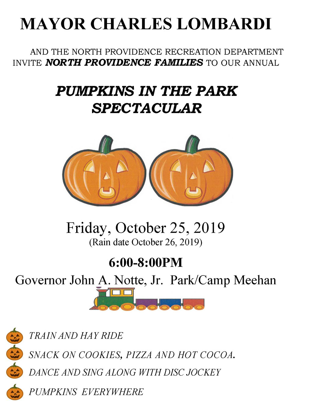Pumpkins In The Park Spectacular - Friday, October 25, 2019