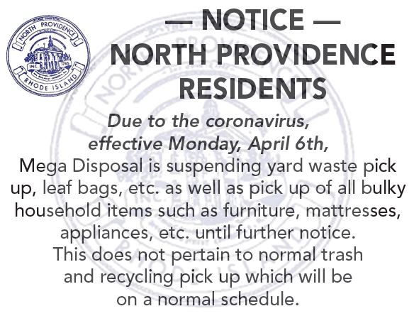 Yard Waste and Bulky Item Pick Up Suspended Until Further Notice