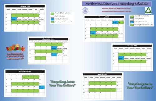 NP Trash & Recycling Calendar