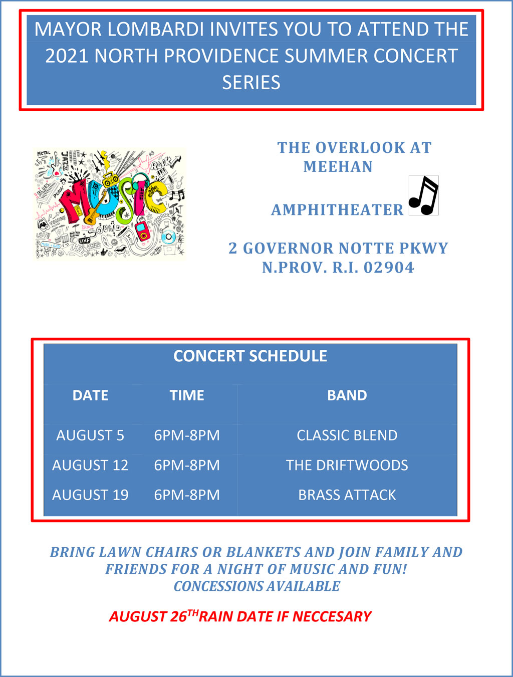 2021 North Providence Summer Concert Series